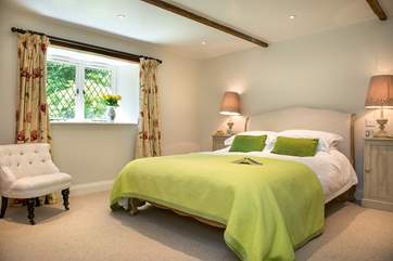 The 3 bedrooms are beautifully styled