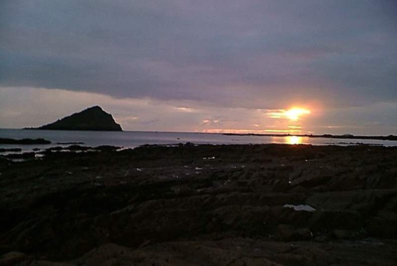 Sunset on the beach at Wembury.