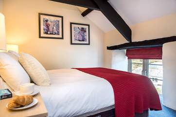 The cottage has 2 charming bedrooms