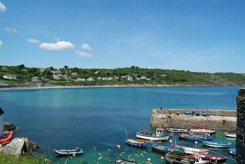 A view of the harbour, just a few yards away from the cottage.