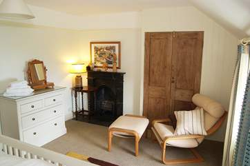 Both front bedrooms (1 and 2) have lovely views down to the cove so why not turn that chair around and enjoy the view.
