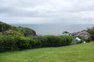 Amazing views from the garden over the bay at Cadgwith.