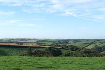 The panoramic countryside views from the garden.