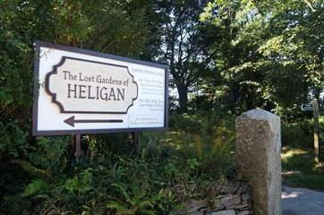Heligan Gardens are only a mile or so away.