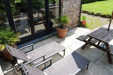 The patio-area is a real sun-trap so bring the sun screen!