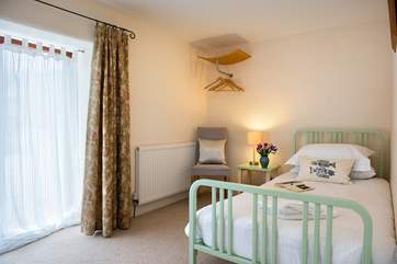 One of the single bedrooms on the ground floor.