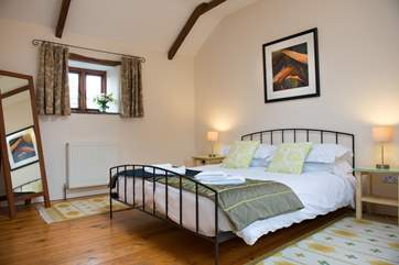 The master bedroom on the first floor.