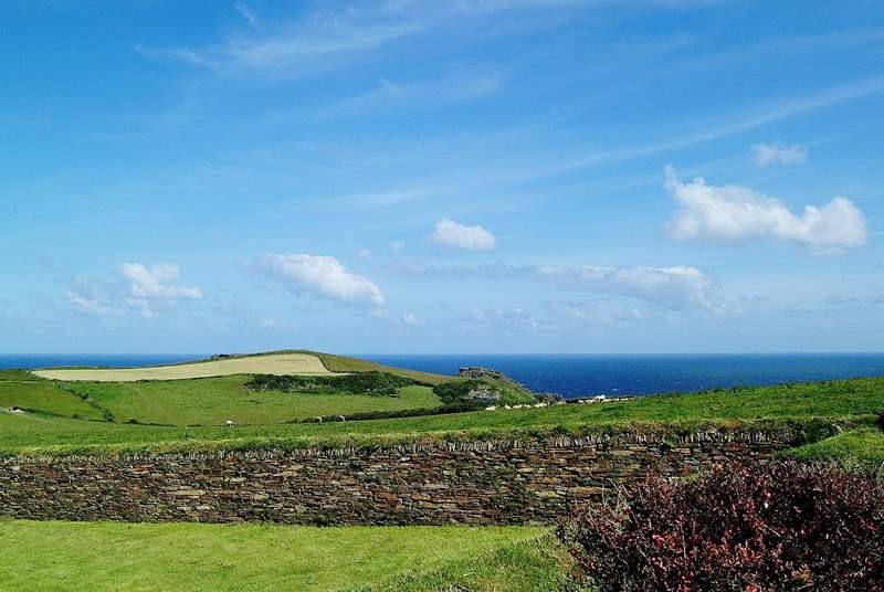 Bossiney view has a wonderful view out to the coast