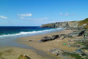 Trebarwith Strand which is three miles away from the property.