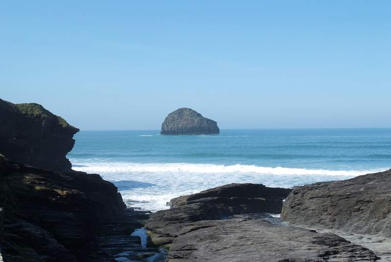 Trebarwith Strand is a very beautiful cove.