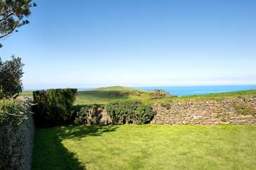 Bossiney View's garden and more of that terrific view