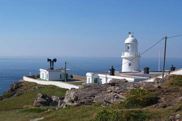 Pendeen Lighthouse is a two mile drive along the road.