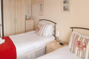 Both bedrooms are comfortably furnished and close to both the bathroom and cloakroom.
