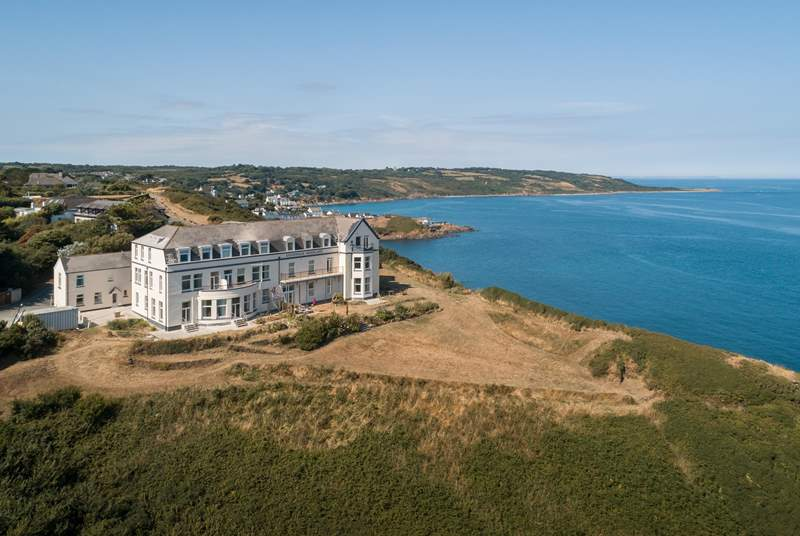 The Lookout is located in the old Headland Hotel (top left).