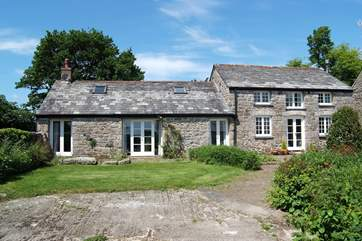 The lovely stone-built barn has been beautifully converted by the owner who lives at the far end of the old farmyard.