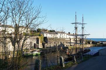One of the wonderful tall ships moored at historic Charlestown Harbour, a short drive from Trethevey.