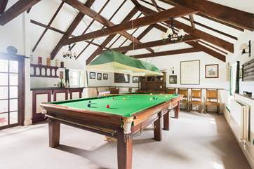 Inside or outside there is plenty of space for fun and games at this holiday cottage.