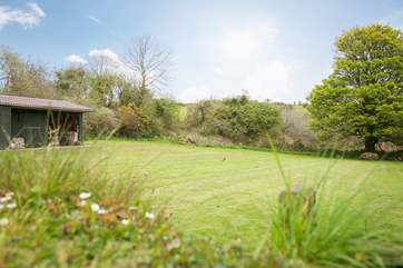 At the side of the cottage, the paddock is the perfect place for younger children to run around and play....