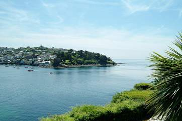 A view from Polruan over to Fowey.