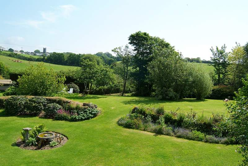 Both cottages have lovely views across the grounds.
