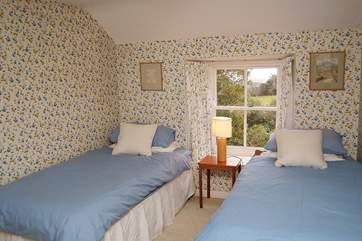 The pretty twin bedroom (Bedroom 2).