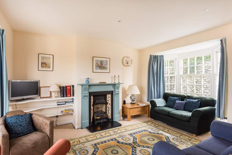The dual aspect sitting-room is very light and welcoming.