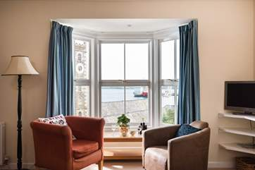 The bay window provides a fabulous vantage point.