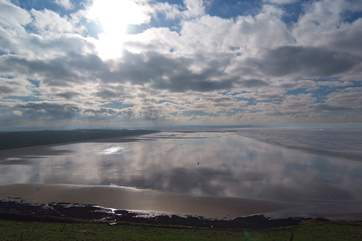 Saunton Sands is nearby – a vast expanse of sand to enjoy.
