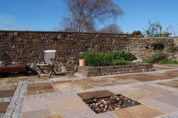 Another view of this huge sunny patio.